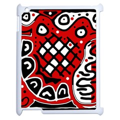 Red high art abstraction Apple iPad 2 Case (White)
