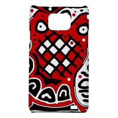 Red high art abstraction Samsung Galaxy S2 i9100 Hardshell Case