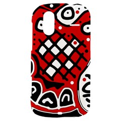 Red high art abstraction HTC Amaze 4G Hardshell Case