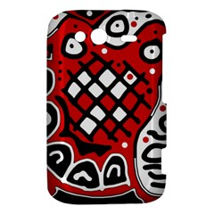 Red high art abstraction HTC Wildfire S A510e Hardshell Case