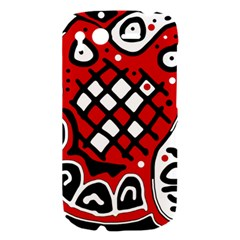 Red high art abstraction HTC Desire S Hardshell Case
