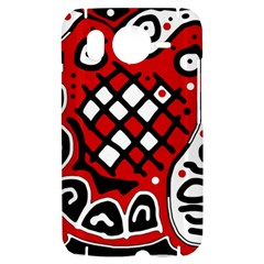 Red high art abstraction HTC Desire HD Hardshell Case