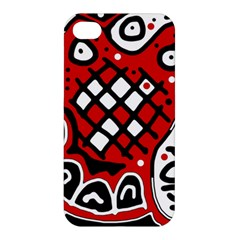 Red high art abstraction Apple iPhone 4/4S Premium Hardshell Case