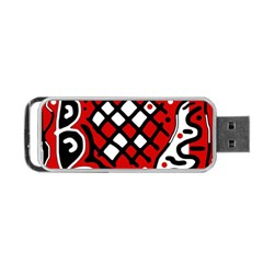 Red high art abstraction Portable USB Flash (Two Sides)