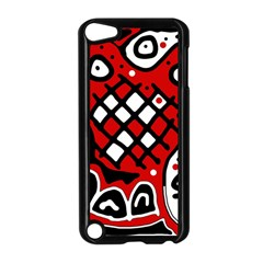 Red high art abstraction Apple iPod Touch 5 Case (Black)