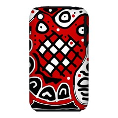 Red high art abstraction Apple iPhone 3G/3GS Hardshell Case (PC+Silicone)