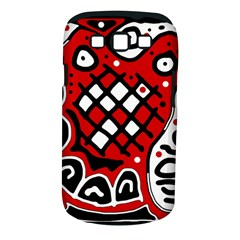 Red high art abstraction Samsung Galaxy S III Classic Hardshell Case (PC+Silicone)