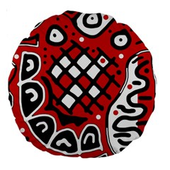 Red high art abstraction Large 18  Premium Round Cushions