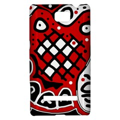 Red high art abstraction HTC 8S Hardshell Case