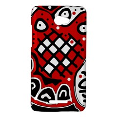 Red high art abstraction HTC Butterfly X920E Hardshell Case