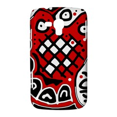 Red high art abstraction Samsung Galaxy Duos I8262 Hardshell Case