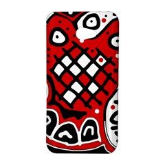 Red high art abstraction HTC Butterfly S/HTC 9060 Hardshell Case
