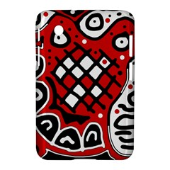 Red high art abstraction Samsung Galaxy Tab 2 (7 ) P3100 Hardshell Case