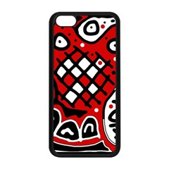 Red high art abstraction Apple iPhone 5C Seamless Case (Black)
