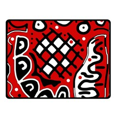 Red high art abstraction Double Sided Fleece Blanket (Small)