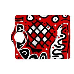 Red high art abstraction Kindle Fire HD (2013) Flip 360 Case