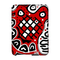 Red high art abstraction Amazon Kindle Fire (2012) Hardshell Case