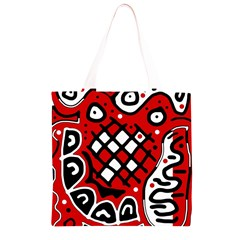 Red high art abstraction Grocery Light Tote Bag