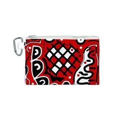 Red high art abstraction Canvas Cosmetic Bag (S)