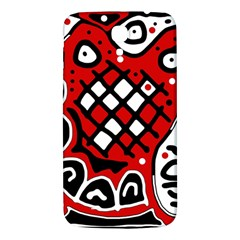 Red high art abstraction Samsung Galaxy Mega I9200 Hardshell Back Case
