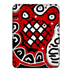 Red high art abstraction Samsung Galaxy Tab 4 (10.1 ) Hardshell Case
