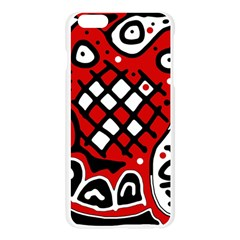 Red high art abstraction Apple Seamless iPhone 6 Plus/6S Plus Case (Transparent)
