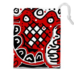 Red high art abstraction Drawstring Pouches (XXL)