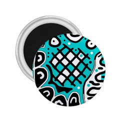 Cyan high art abstraction 2.25  Magnets