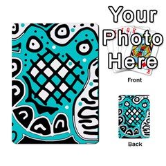 Cyan high art abstraction Multi-purpose Cards (Rectangle)