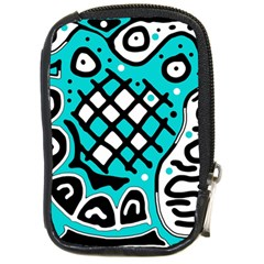 Cyan high art abstraction Compact Camera Cases