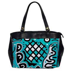 Cyan high art abstraction Office Handbags