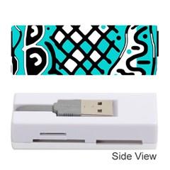 Cyan high art abstraction Memory Card Reader (Stick)