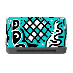 Cyan high art abstraction Memory Card Reader with CF
