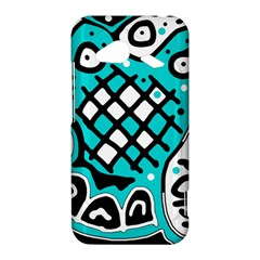 Cyan high art abstraction HTC Droid Incredible 4G LTE Hardshell Case