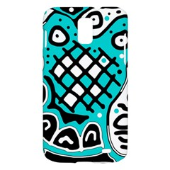 Cyan high art abstraction Samsung Galaxy S II Skyrocket Hardshell Case