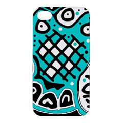 Cyan high art abstraction Apple iPhone 4/4S Premium Hardshell Case