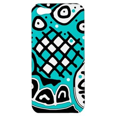 Cyan high art abstraction Apple iPhone 5 Hardshell Case