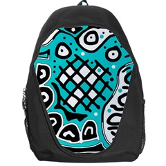 Cyan high art abstraction Backpack Bag