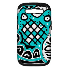 Cyan high art abstraction Samsung Galaxy S III Hardshell Case (PC+Silicone)