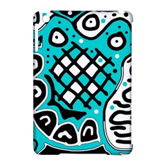 Cyan high art abstraction Apple iPad Mini Hardshell Case (Compatible with Smart Cover)