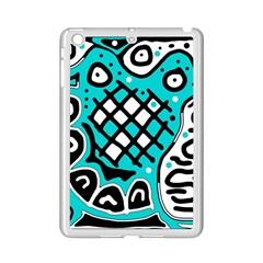 Cyan high art abstraction iPad Mini 2 Enamel Coated Cases