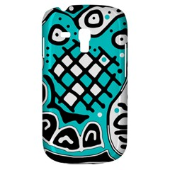 Cyan high art abstraction Samsung Galaxy S3 MINI I8190 Hardshell Case