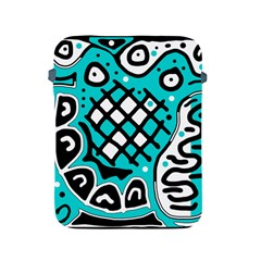 Cyan high art abstraction Apple iPad 2/3/4 Protective Soft Cases