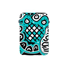 Cyan high art abstraction Apple iPad Mini Protective Soft Cases