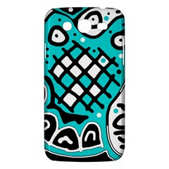 Cyan high art abstraction Samsung Galaxy Mega 5.8 I9152 Hardshell Case