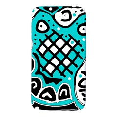 Cyan high art abstraction Samsung Note 2 N7100 Hardshell Back Case