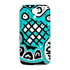 Cyan high art abstraction Samsung Galaxy S4 I9500/I9505  Hardshell Back Case