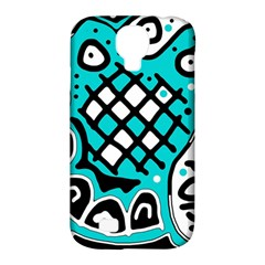 Cyan high art abstraction Samsung Galaxy S4 Classic Hardshell Case (PC+Silicone)