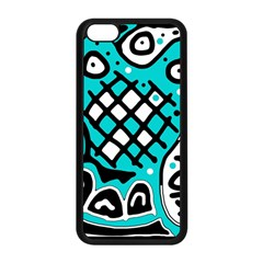 Cyan high art abstraction Apple iPhone 5C Seamless Case (Black)