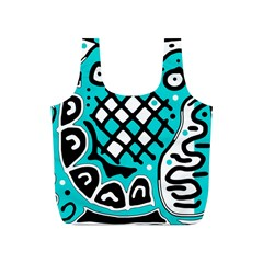 Cyan high art abstraction Full Print Recycle Bags (S)
